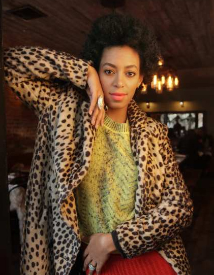 Solange Knowles at Rucola in the LA Times