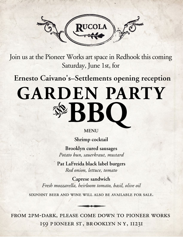 Garden Party Barbecue by Rucola in Red Hook