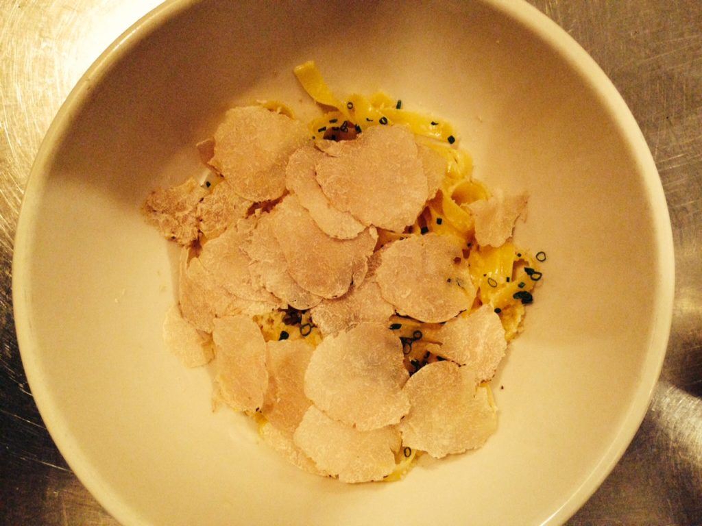 white truffles at Rucola